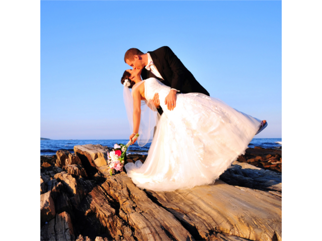 Imagine the expanse of the sea as the backdrop for your special day!