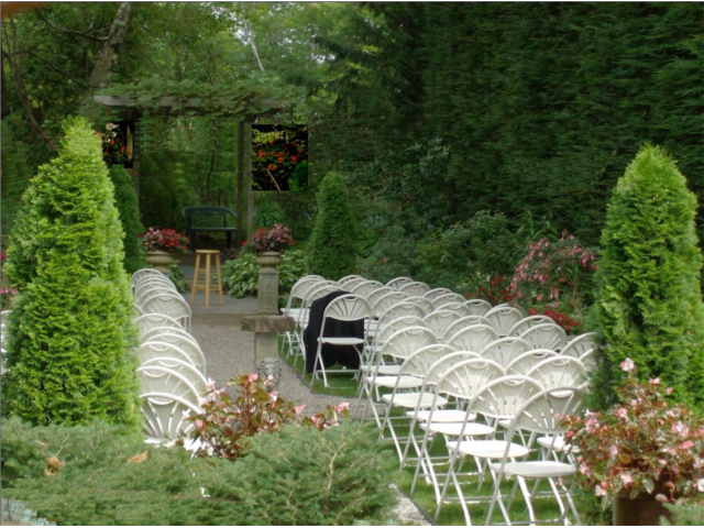 Formal Garden holds 86 chairs