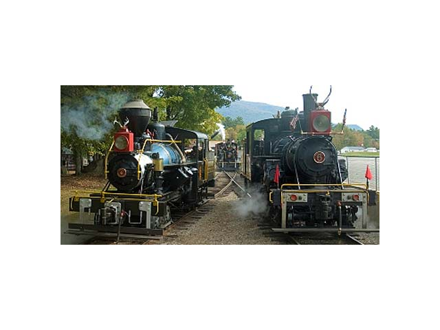 Baldwin & Climax locomotives steamed up for our annual Railroad Days Weekend.