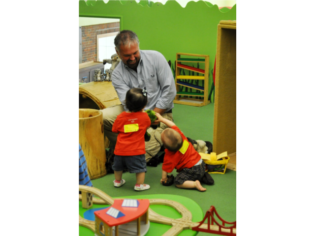 There is a special early learning environment for babies and toddlers on the 2nd floor at the Children's Museum of NH.