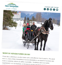Image of a newsletter with a sleigh ride image on it