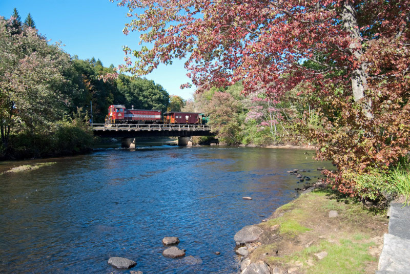 When the leaves start to change in late September or early October, be sure to join us for a train ride aboard the Hobo Railroad to check out New Hampshire's Fall Foliage - Mother Nature is quite an artist!!